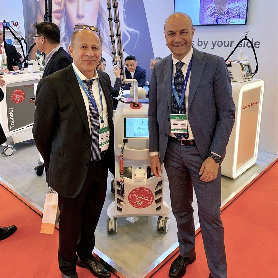 Jim Norman from Aussie Medi Tech with Girolamo Lionetti: CEO of Quanta System