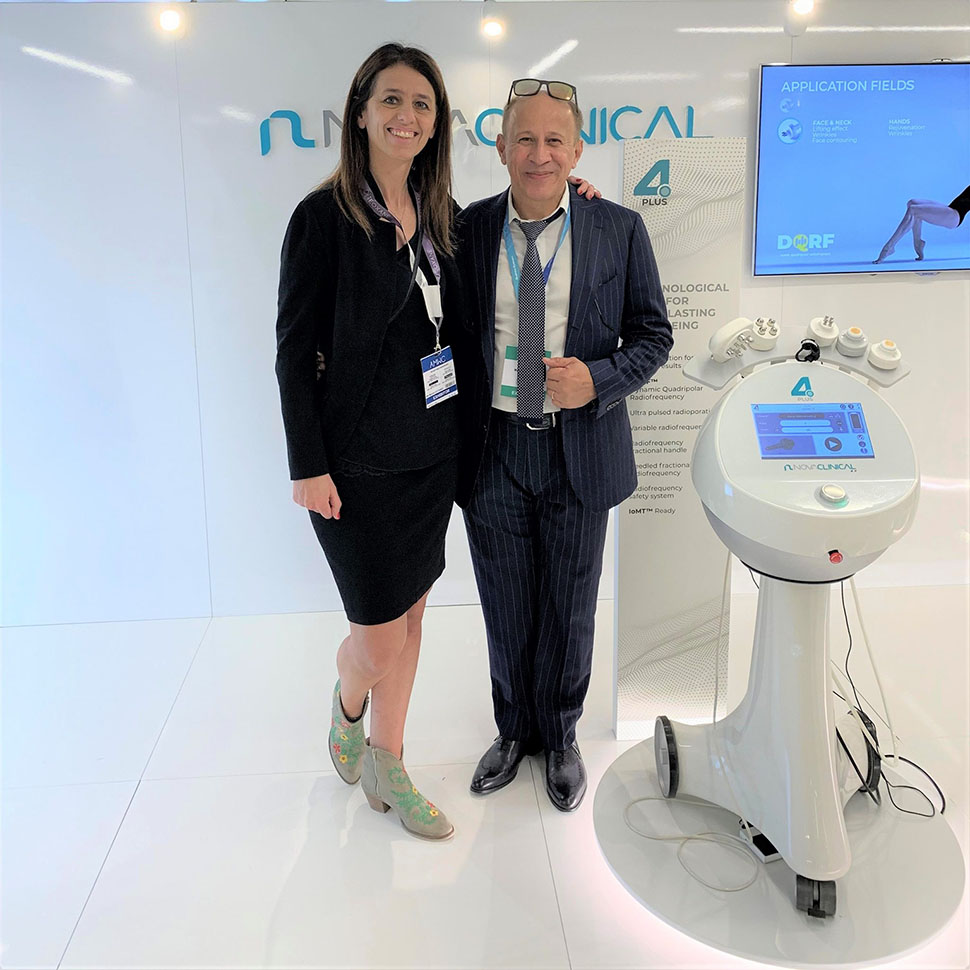 Jim Norman from Aussie Medi Tech with Monica Cattaneo: Sales Manager of Novavision Group